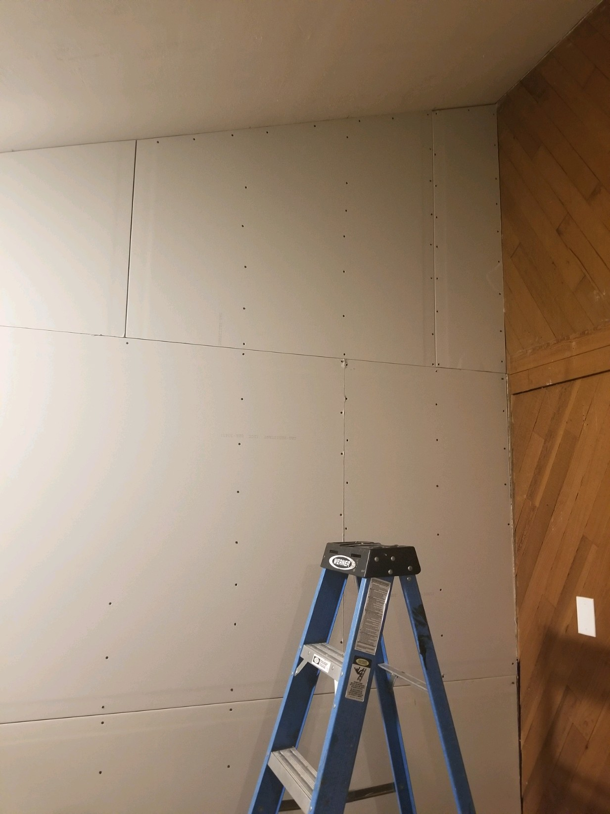 wall being put on and ready for patch